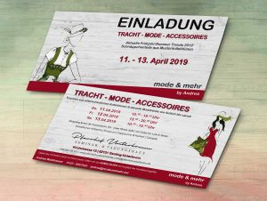 Einladung Tracht & Mode April 2019